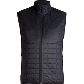 Icebreaker Helix bodywarmer Heren, black/jet heather